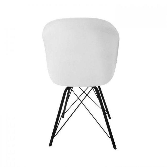 Designstoel Metal Jax -Wit