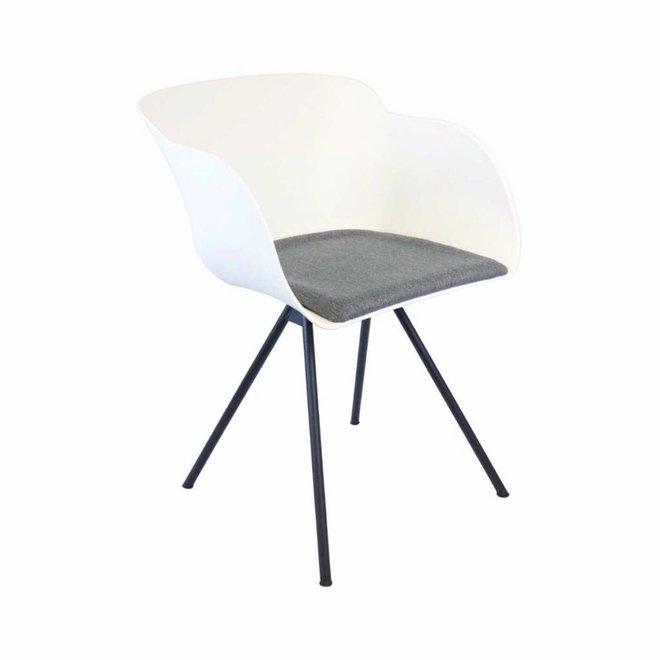 Eetkamer stoel Mace - wit/grijs