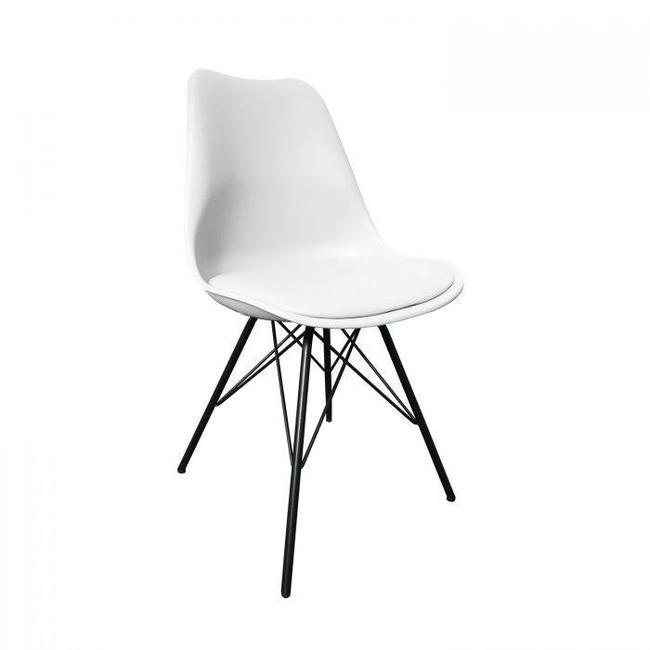 Kick Collection Designstoel Metal Luuk - wit