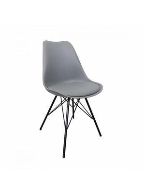 Kick Collection Designstoel Metal Luuk - grijs