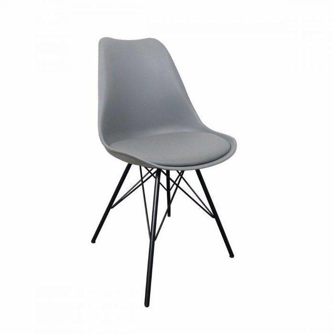 Designstoel Metal Luuk - grijs