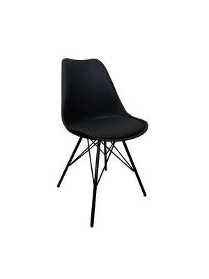 Kick Collection Designstoel Metal Luuk - zwart