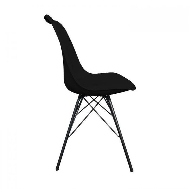 Designstoel Metal Luuk - zwart
