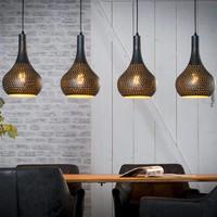 Hanglamp 4L industry concrete kegel zwart bruin