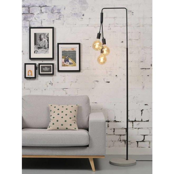 Vloerlamp ijzer/cement Oslo, zwart