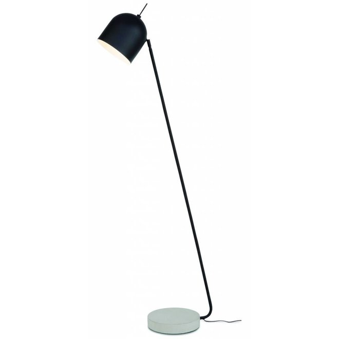 Vloerlamp ijzer/cement voet Madrid, zwart