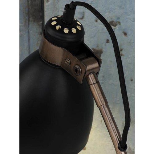 It's About RoMi Vloerlamp ijzer/cement voet Denver, zwart