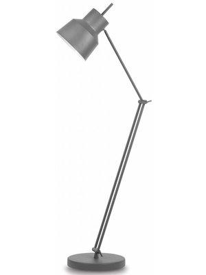 It's About RoMi Vloerlamp ijzer Belfast, mat grijsgroen