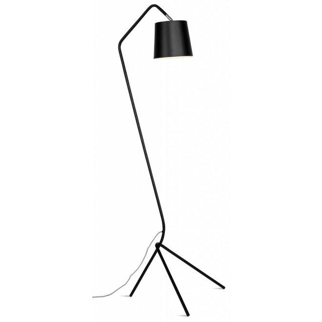 Vloerlamp ijzer 3-poot Barcelona, zwart