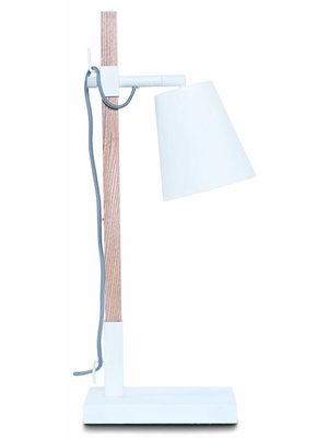 It's About RoMi Tafellamp ijzer/essenhout Sydney, wit/naturel