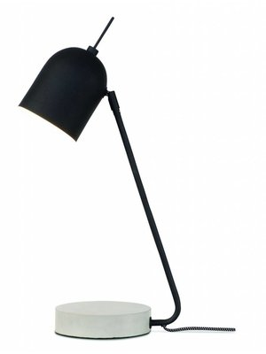 It's About RoMi Tafellamp ijzer/cement voet Madrid, zwart