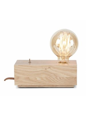 It's About RoMi Tafellamp essenhout blok Kobe naturel