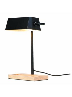 It's About RoMi Tafellamp ijzer/hout Cambridge, zwart/naturel