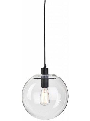 It's About RoMi Hanglamp glas/bol Warsaw, transparant/zwart