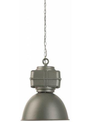 It's About RoMi Hanglamp ijzer/industrieel Liverpool rond, mat grijsgroen