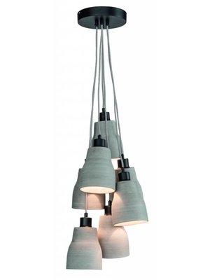 It's About RoMi Hanglamp polystone Cadiz/7-kap, grijs
