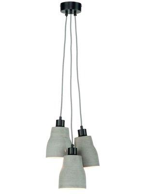 It's About RoMi Hanglamp polystone Cadiz/3-kap, lichtgrijs