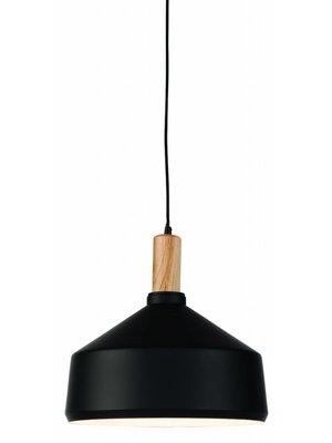 It's About RoMi Hanglamp ijzer/hout Melbourne, zwart/naturel