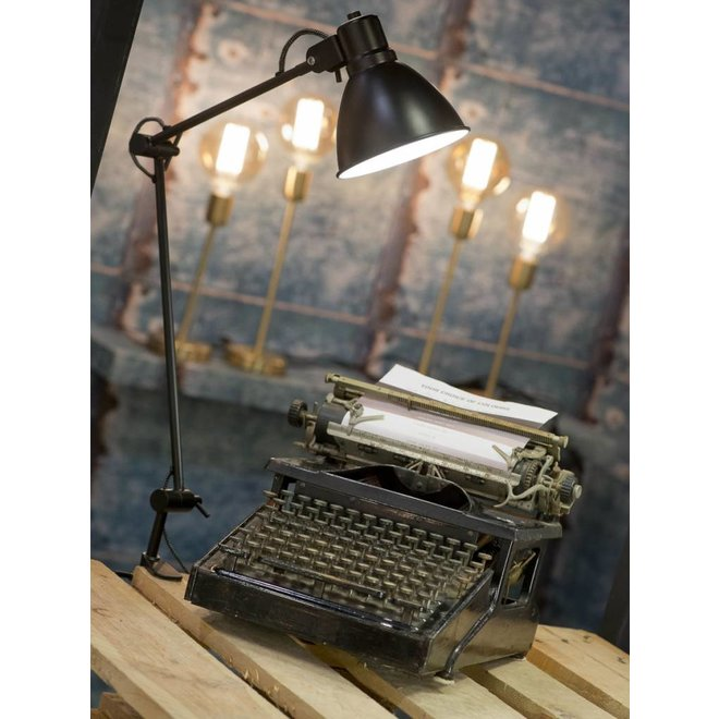 Tafel klemlamp ijzer Derby, zwart