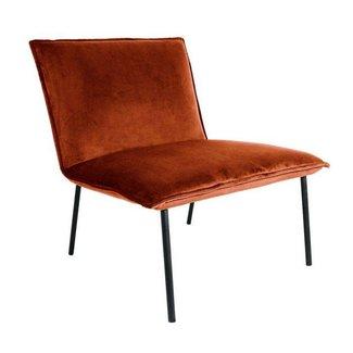 Kick Collection Fauteuil Velvet Lola - Oranje