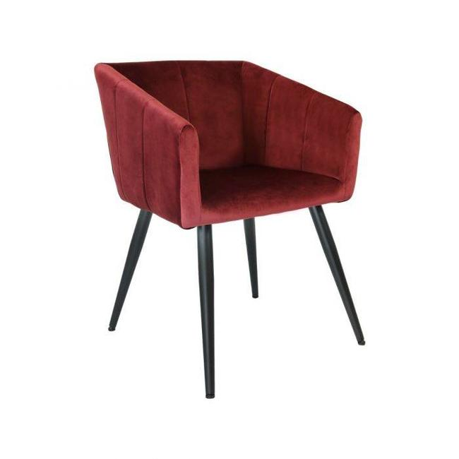 Kick Collection Eetkamerstoel Velvet Liv - Rood