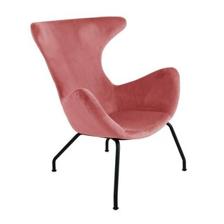 Kick Collection Fauteuil velvet Billy - Roze