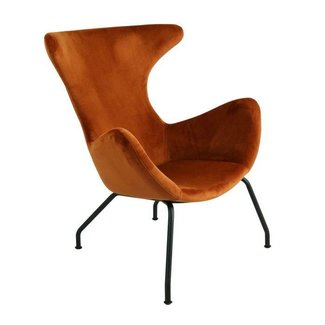 Kick Collection Fauteuil velvet Billy - Oranje