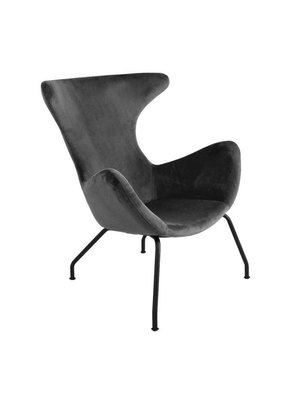 Kick Collection Fauteuil velvet Billy - Antraciet