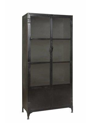 RENEW Dressoir 2 deurs glas hoog. - 90x40x190