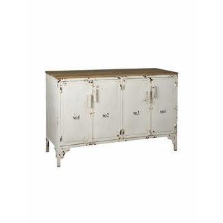 RENEW Locker Dressoir 4 deurs wit -129x45x82