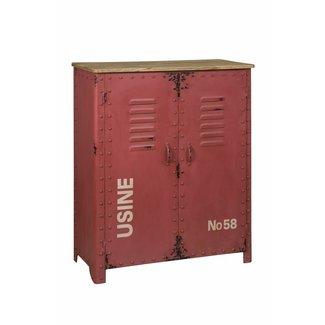 RENEW Lockerkast rood - 81x36x103