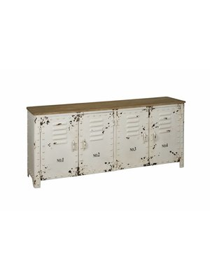 RENEW Industriële Lockerkast Dressoir Wit