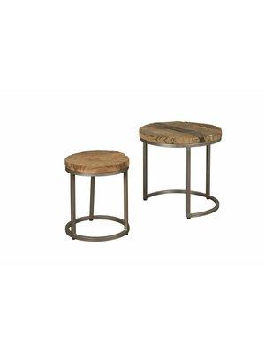 RENEW Salontafel Set van 2 gerecycled hout