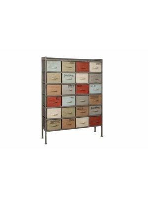 RENEW Gekleurde Vintage Ladenkast 150cm