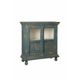 RENEW Vintagelook kastje blauw - 98x40x104