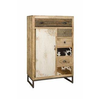 RENEW Wandkast 1 deur - 7 lades - 90x45x140