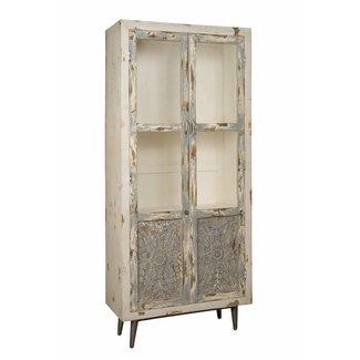 RENEW Wandkastje 2 deurs - glas - 90x40x200