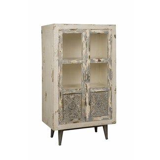 RENEW Wandkastje 2 deurs - glas 70x40x125