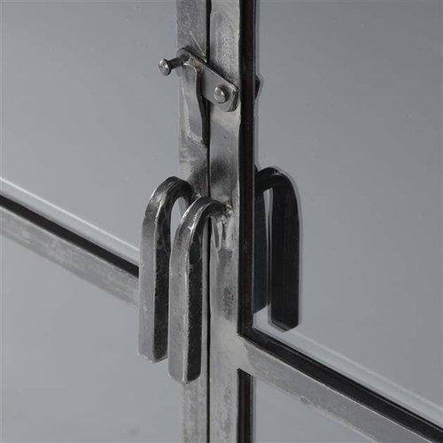 Alaska Industriële Vitrinekast Rift 2-deurs Glas 190cm