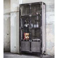 Industriële Vitrinekast Metal 2-deurs 190cm
