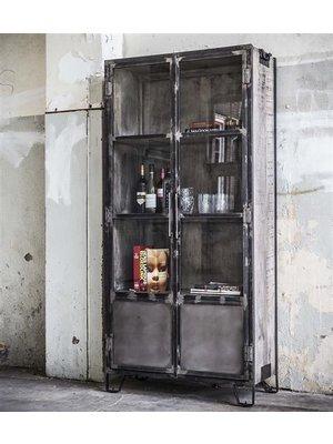 Alaska Industriële Vitrinekast Metal 2-deurs 190cm