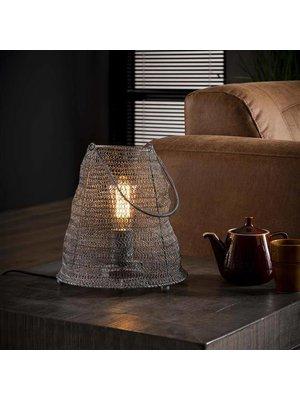 Alaska Tafellamp Mesh met Handvat, Ø26cm