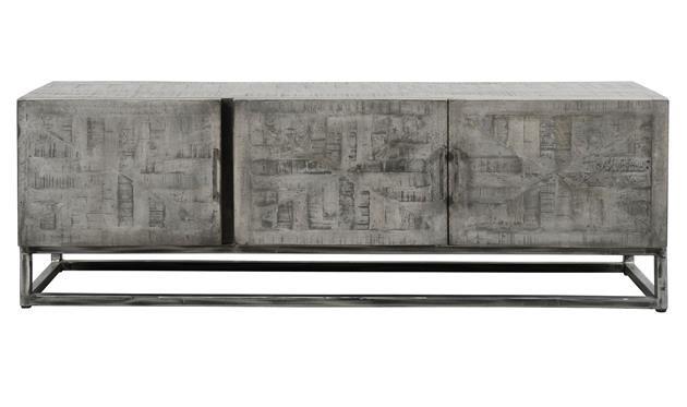 Tv Kast Antiek : Tv meubel grado massief mango grijs antiek industrieel wonen