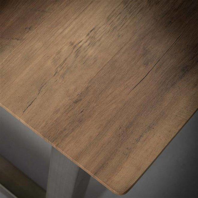 Bartafel 140x70 U-poot/3D eiken brownwash
