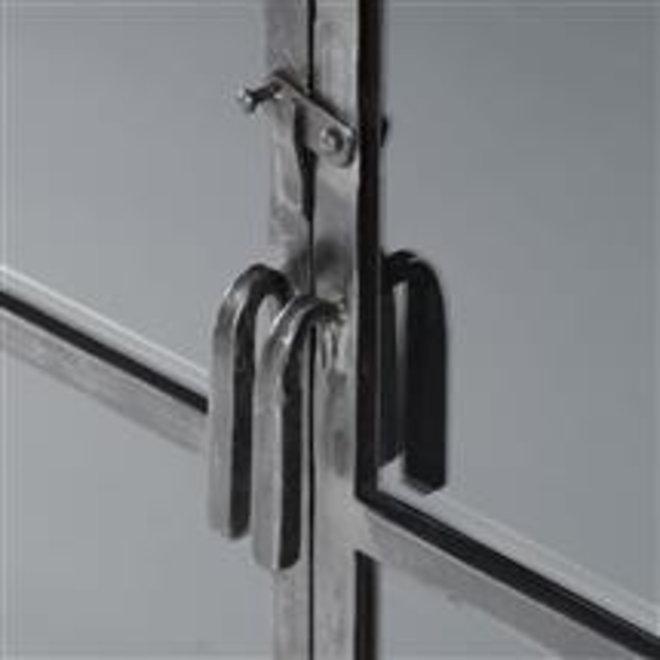 Dressoir Rift metal 4 deuren / Gun metal