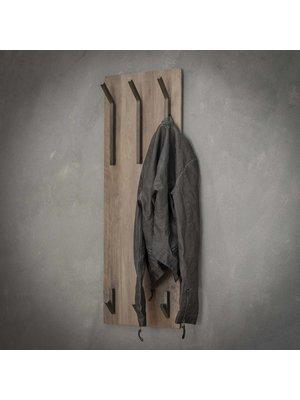 Alaska Kapstok 2x3 haken hoog / 3D eiken greywash