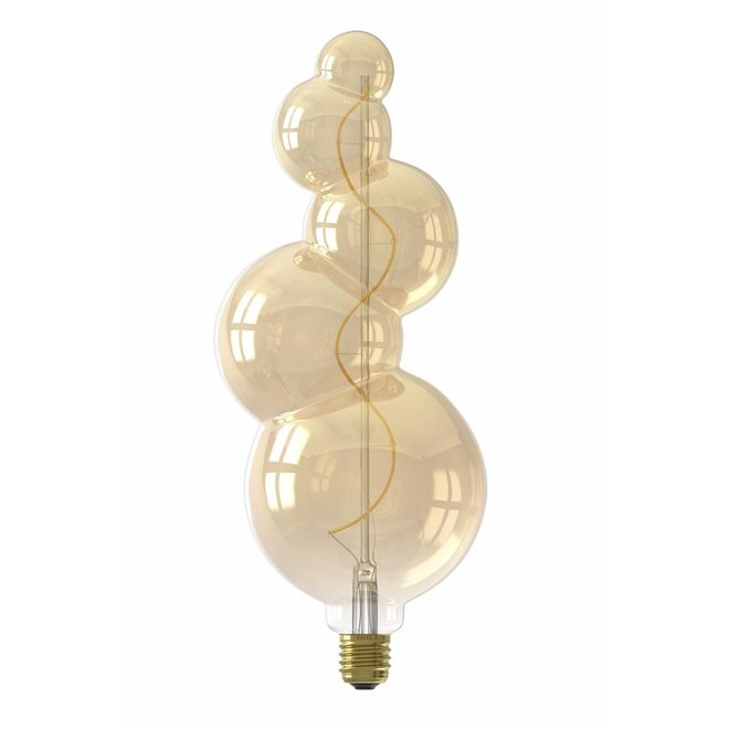 Calex Alicante LED Lamp 240V 4W 130lm E27, Gold 2100K dimmable, energy label B