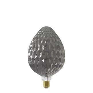 Calex Holland Calex Sevilla 150x245mm LED Lamp 240V 4W 60lm E27, Titanium 2100K dimmable, energy label B