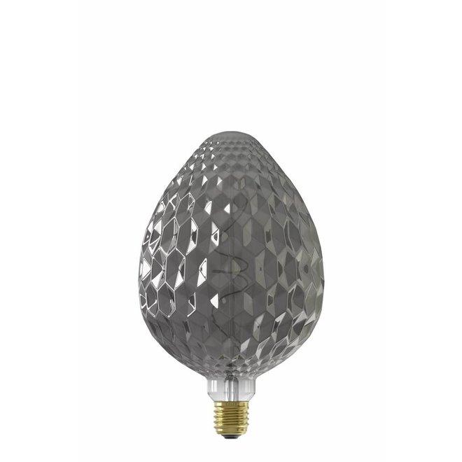 Calex Sevilla 150x245mm LED Lamp 240V 4W 60lm E27, Titanium 2100K dimmable, energy label B