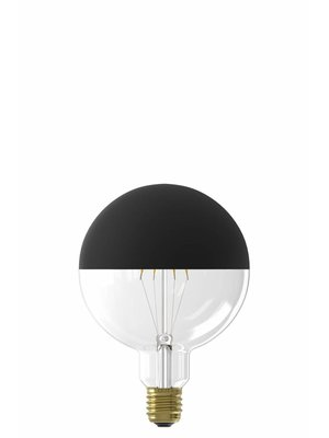 Calex Calex LED Full Glass Filament Globe Lamp240V 4W 190lm E27 G125, Top mirror Black 2000K dimmable, energy label A